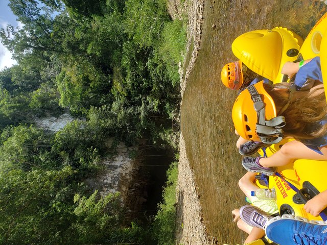Belize Nohoch Che'en Caves Branch Cave Tubing Excursion First time Cave Tubers!