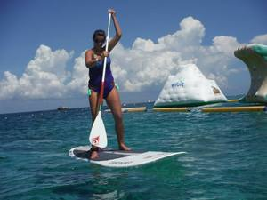 Cozumel Stand Up Paddle Board Introduction at Mr. Sanchos Beach Club