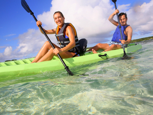 Falmouth Tropical Lagoon Kayak and Beach Break Excursion with Lunch