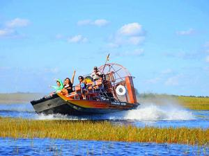 Miami Everglades Airboat and Biscayne Bay Boat Sightseeing Excursion