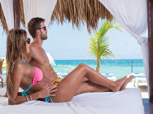 Mr. Sanchos Beach VIP All Inclusive Romance Day Pass from Playa del Carmen