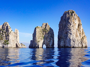 Naples Boat Cruise to Capri Faraglioni Rocks with Lunch Excursion
