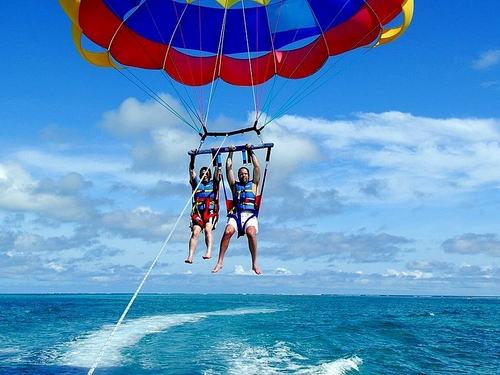 Freeport beach parasailing Shore Excursion Booking