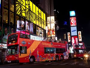 New York City by Night Sightseeing Bus Excursion