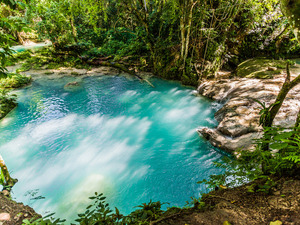 Ocho Rios Blue Hole and River Adventure Excursion with Lunch