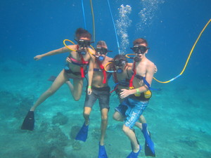 SNUBA Diving Excursion and Shore Snorkeling Adventure from Playa del Carmen