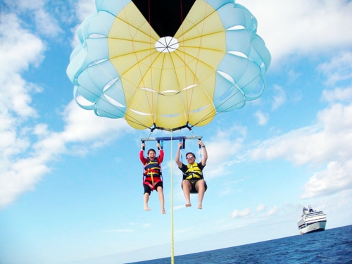 Freeport Bahamas beach parasailing Cruise Excursion Prices