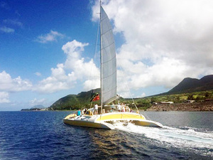 St. Kitts Deluxe Sail and Snorkel with Lunch Excursion