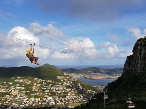 St. Maarten Combo Sky Explorer, Schooner Ride and Zip Line Excursion