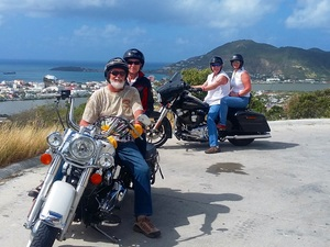 St. Maarten Guided Harley Davidson Motorcycle Sightseeing Excursion