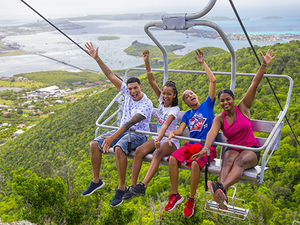 St. Maarten Sky Explorer, Flying Dutchman, Schooner Ride, and Zip Line Adventure Excursion